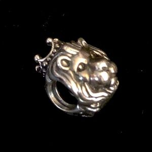 Pandora King of The Jungle Sterling Bead